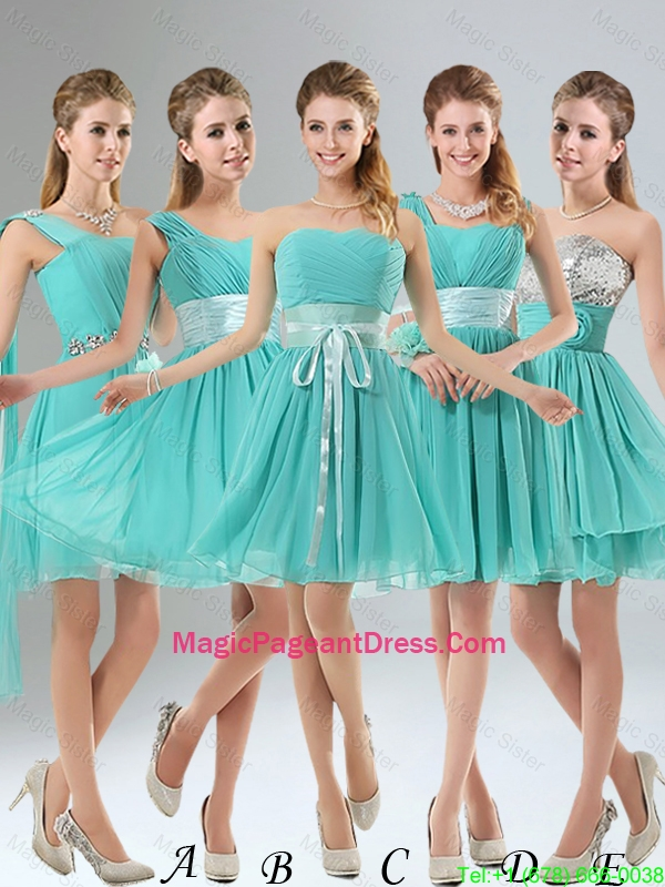2016 A Line Ruching Lace Up Pageant Dress in Aqua Blue