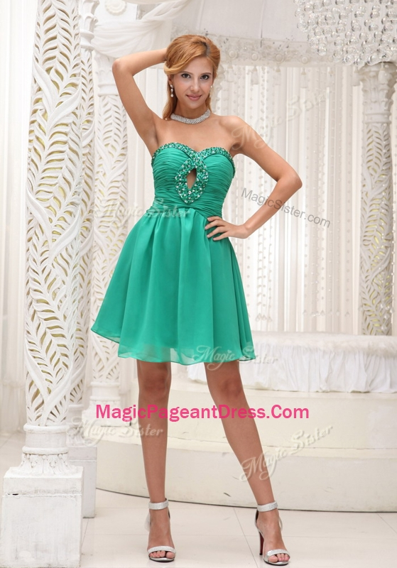 Perfect Sweetheart Beading Short Natural Pageant Dresses for 2016