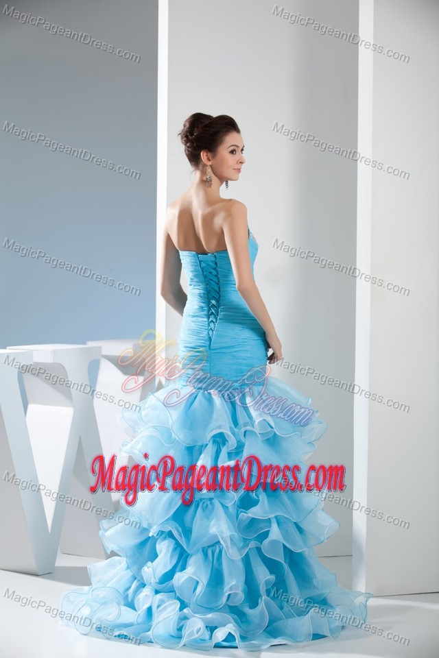 Mermaid Sweetheart Interview Pageant Suits with Beading and Ruffles in Baltimore