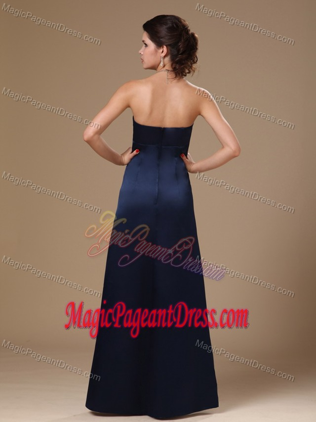 Navy Blue V-neck Custom Made Pageant Dresses in Anniston Alabama