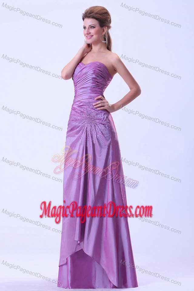 Lavender Beaded Dresses For Pageants In Nj with Ruches in Saint Charles