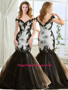 Luxurious Beaded and Applique Mermaid Pageant Dress with Off the Shoulder