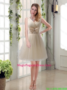 Beautiful Champagne Bowknot Princess Pageant Dresses for 2016