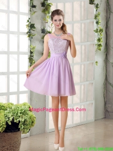 2016 Popular Pageant Dresses Ruching with Hand Made Flower in Lilac