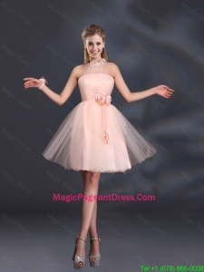 Halter Hand Made Flowers 2016 Popular Pageant Dresses