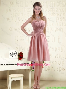 2016 Fitted Sweetheart Empire Chiffon Pageant Dresses with Ruching