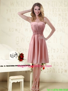 2016 Sassy Sweetheart Ruched Pageant Dresses in Chiffon with Waistband