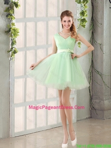 2016 Natural Organza A Line Belt Pageant Dress