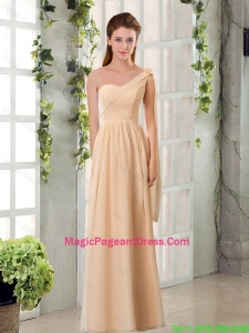 2016 Empire Chiffon Pageant Dresses with Ruching