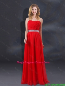 2016 Sequin Decorate Waist Ruching Empire Pageant Dresses