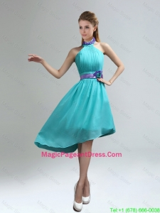 2016 New Fashion High Neck Asymmetrical Multi-color Pageant Dress