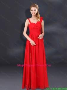 2016 Ruching Empire Pageant Dresses with Asymmetrical