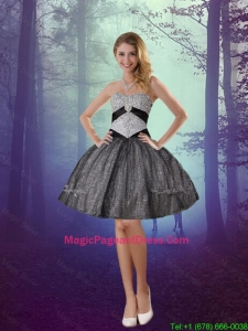 2016 Wonderful Sweetheart Appliques Pageant Dresses with Mini Length in Grey