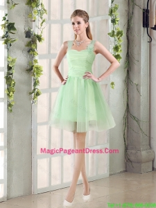 Ruching Organza A Line Straps 2016 Pageant Dresses with Lace Up