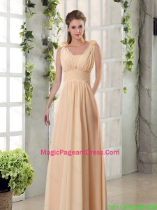 Straps Empire Ruching Hand Made Flowers 2016 Pageant Dresses