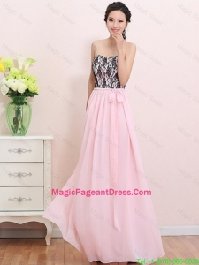 2016 Elegant Empire Sweetheart Laced Pageant Dresses with Belt