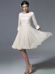 New Arrivals Bateau Zipper Up Perfect Pageant Dresses in Champagne