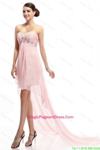Best Selling Sweetheart Beaded Pageant Gowns with High Low