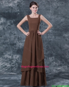 Discount Straps Brown Pageant Dresses with Ruching