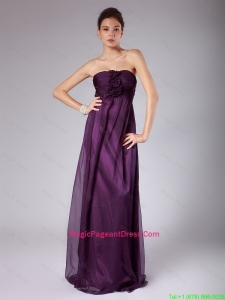 Perfect Ruched Sweetheart Pageant Gowns with Hand Made Flowers
