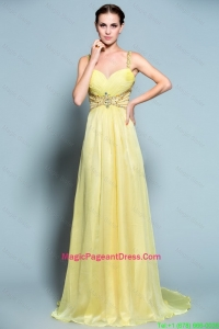 Popular Empire Straps Pageant Dresses with Beading