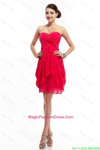 Fashionable Hand Made Flowers Pageant Dresses with Sweetheart