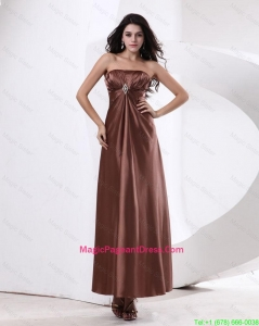Fashionable Strapless Pageant Dresses With Ankle Length