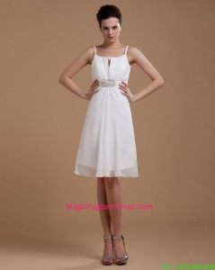 Most Popular Straps White Short Pageant Gowns with Beading