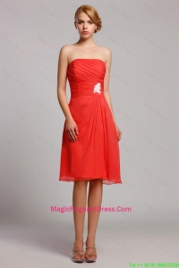 New Style Appliques Short Pageant Dresses in Orange Red