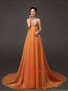 Fashionable Court Train Pageant Dress with Beading and Ruching