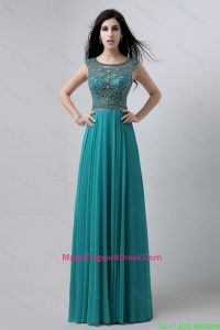 Discount Bateau Floor Length Pageant Dress with Beading