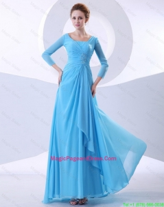 Gorgeous Beading Aqua Blue Pageant Dresses in 2016
