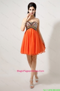 Latest Beaded and Sequined Pageant Dress in Orange