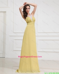 New Style Sequins and Beading Long Pageant Dresses for Graduation