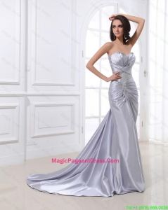 Popular Mermaid Sweetheart Brush Train Sequins Pageant Dresses