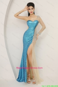 Luxurious Sequined Multi Color Pageant Dresses with Long Sleeve