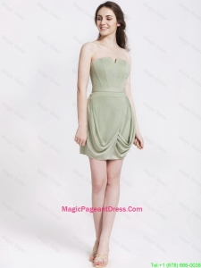Classical Short Strapless Pageant Dresses with Ruching
