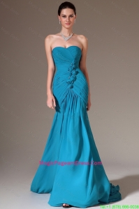 Luxurious Column Sweetheart Pageant Dresses with Brush Train