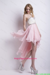 New Arrivals Sweetheart Beaded Pageant Dress with High Low