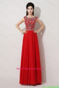 Discount Brush Train Beaded Pageant Dress with Bateau
