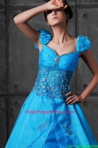 Luxurious A Line Sweetheart Beaded Pageant Dresses