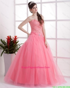 New Arrivals A Line Sweetheart Pageant Dresses in Watermelon