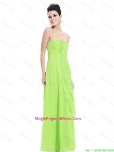 New Arrivals Strapless Beaded Pageant Dress in Spring Green