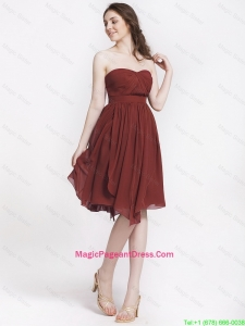 Popular Chocolate Sweetheart Pageant Dresses with Ruching