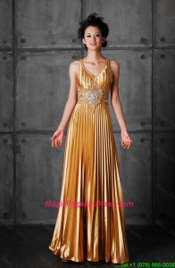 Popular Empire V Neck Pageant Dresses with Beading
