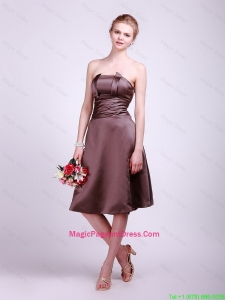 Classical Strapless Short Pageant Dresses with Ruching