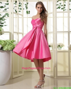 Exquisite Hot Pink Short Pageant Dresses with Ruching