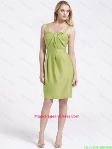 Most Popular Short Olive Green Pageant Dresses with Belt
