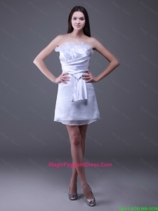 New Arrivals Strapless Ruffles Short Pageant Dresses in White