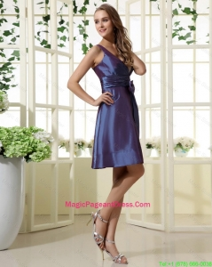 2016 Short Straps Cheap Pageant Dresses with Bowknot